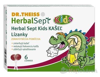Dr.Theiss HerbalSept Kids KAŠEĽ, 6 ks
