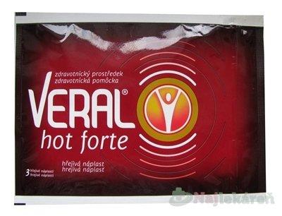 Veral Hot forte hřejivá náplast 3ks