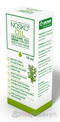Nosko Oil nosový sprej na suchý a svrbiaci nos 10 ml