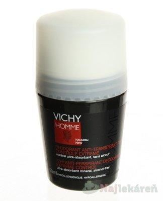 Vichy Homme Sensitive 72h deodorant roll-on pre citlivú pokožku 50 ml