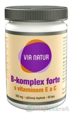 Via Natur B-komplex Forte s vitamínom E a C 60 kapsúl