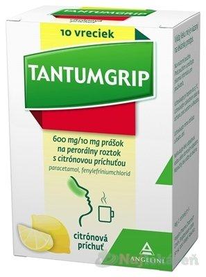 Tantumgrip 600mg/10mgs prášok na perorálny roztok s citrónovou príchuťou vrecká plo.por.10 x 600mg/10mg