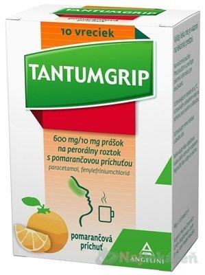 Tantumgrip 600mg/10mgs prášok na perorálny roztok s pomarančovou príchuťou vrecká plo.por.10 x 600mg/10mg