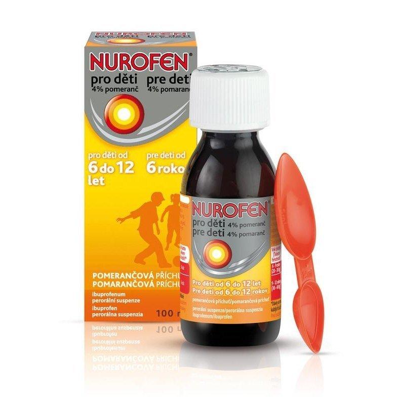 Nurofen pre deti 4% pomaranč sus.por.1x100 ml/4,0g