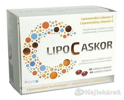 InPharm Lipo C Ascor 90 kapsúl