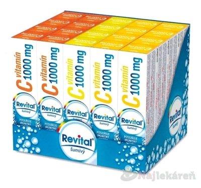 Revital effervescent MIX BOX Vitamín C 1000 mg