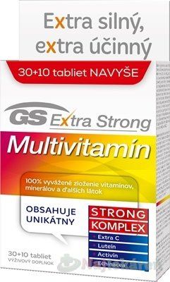 GS Extra Strong Multivitamín 30 + 10 tabliet