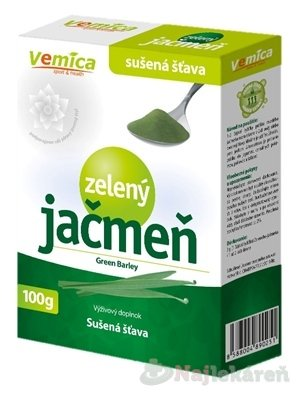 Vemica Zelený jačmeň - sušená šťava 100 g