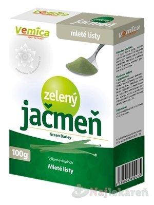 Vemica Zelený jačmeň - mleté listy - prášok 100 g