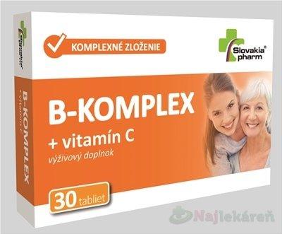 Slovakiapharm B-KOMPLEX + vitamín C tbl 30 ks