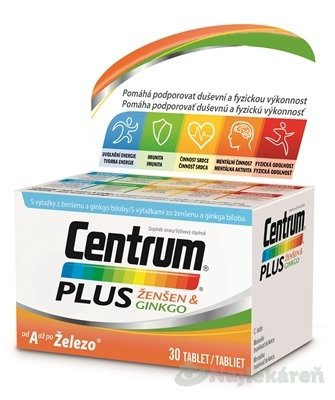 CENTRUM PLUS ZENSEN & GINKGO 30 TBL