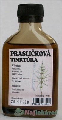 Prír. farmácia PRASLIČKOVÁ TINKTÚRA, 100ml - Prír. farmácia lopuchová tinktúra 100 ml