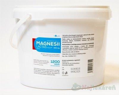 MAGNESII LACTAS VULM 500 mg