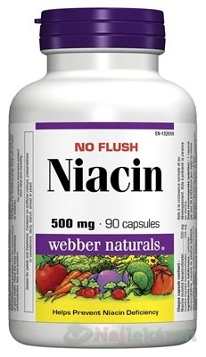 Webber Naturals Niacín 500mg Vitamín B3 90 tabliet