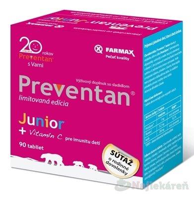 Farmax Preventan Junior + vitamín C 90 ks
