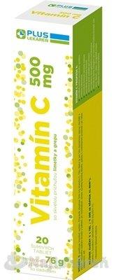 Plus Lekáreň Vitamín C 500mg + vláknina tbl eff s príchuťou pomaranča 20 ks