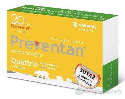 Farmax Preventan Quattro s citrónovou príchuťou 24 tbl.