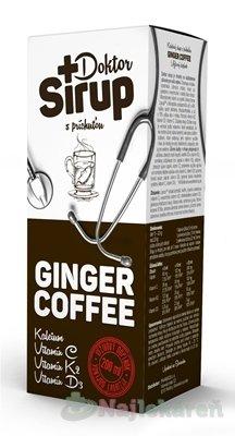 Doktor Sirup GINGER COFFEE kalciový sirup 200 ml