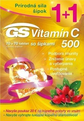 GS Vitamín C 500 so šípkami 140 tabliet
