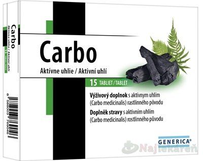 GENERICA Carbo tbl 1x15 ks - Generica Carbo 15 tabliet