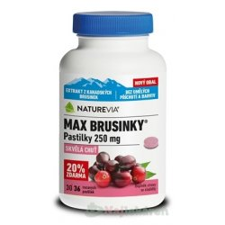 SWISS NATUREVIA MAX BRUSNICE pastilky 250 mg