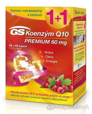 GS Koenzým Q10 60 mg PREMIUM + darček 2018