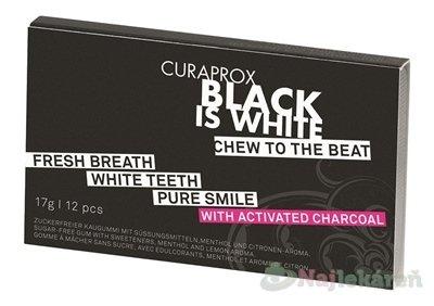 Curaprox Black is White žuačky 12 ks