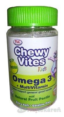 Chewy Vites Kids Omega 3 + Multivitamin - Chewy Vites Omega 3 výživový doplněk pro děti starší 12 měsíců 30 ks