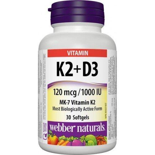 WN Vitamín K2 120 mcg + D3 1000 IU