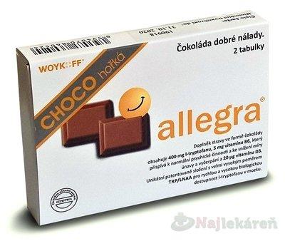 allegra CHOCO horká - Allegra CHOCO 10 g