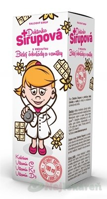Doktorka Sirupová kalciový sirup, 100 ml - Doktorka Sirupová kalciový sirup s príchuťou čokolády 100 ml