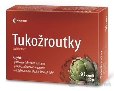Noventis Tukožrútky výživový doplnok, 30ks - NoventisTukožroutky pro snížení hl.cholesterolu 30 kapsúl