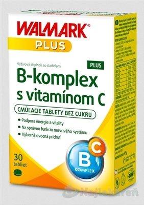 Walmark B-komplex PLUS s vitaminem C tbl.30 - Walmark B-Komplex+vitamín c s ovocnou príchuťou 30 tabliet