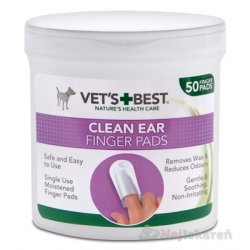 VET´S BEST CLEAN EAR FINGER PADS