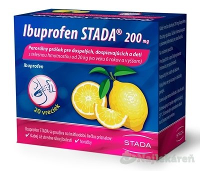 Ibuprofen STADA 200 mg 20ks