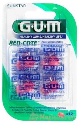 GUM RED-COTE - G.U.M Tablety k indikaci ho plaku 12ks B824
