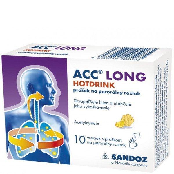 ACC LONG Hotdrink na vykašliavanie 10 vrecúšok