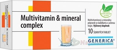 GENERICA Multivitamin & mineral complex, 10 ks - Generica Multivitamin & mineral complex tbl eff 10 ks