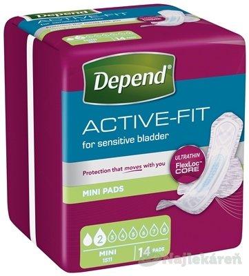 DEPEND ACTIVE-FIT Mini inkontinenčné vložky pre ženy 14ks - Depend Active-Fit Mini 14 ks