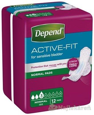 DEPEND ACTIVE-FIT Normal inkontinenčné vložky pre ženy 12ks - Depend Active-Fit Normal 12 ks
