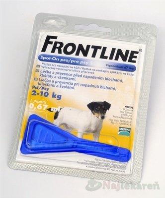 FRONTLINE Spot-on pre psy S 0,67ml