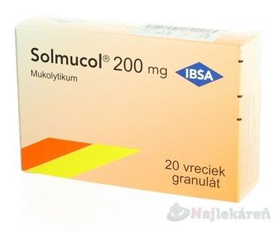 Solmucol na kašeľ 200 mg 20 vrecúšok