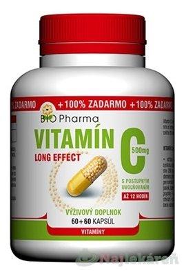 io-Pharma Vitamín C 500mg long effect 120 kapsúl