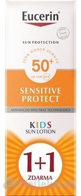 Eucerin SUN SENSITIVE PROTECT SPF50+ detské mlieko - Eucerin Sun sensitive protect SPF50+ detské mlieko na opaľovanie 2 x 150 ml darčeková sada