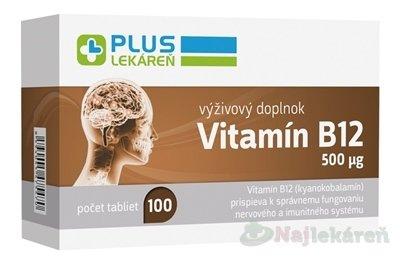 Plus Lekáreň Vitamín B12 500 µg tbl 100 ks