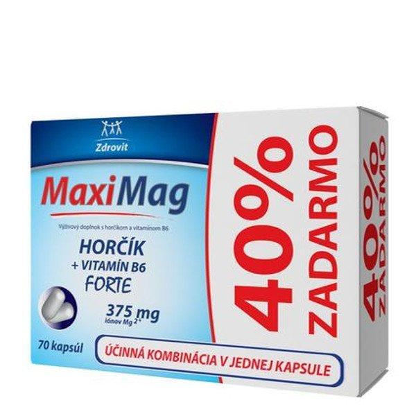 Zdrovit MaxiMag Horčík + Vitamín B6 forte 70 cps