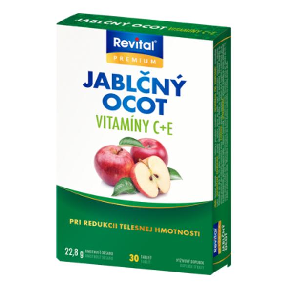 Revital Jablčný ocot, vitamín C, vitamín E 30 tbl
