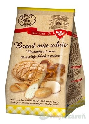 Liana Bread mix white plv bezlepková zmes na svetlý chlieb a pečivo 1000 g