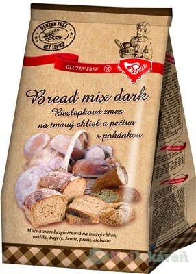 Liana Bread mix dark plv bezlepková zmes na tmavý chlieb a pečivo s pohánkou 1000 g