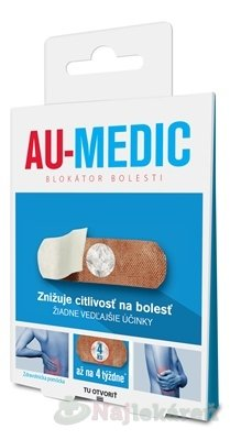Au-medic blokátor bolesti náplasti (crystal tape) 4 ks